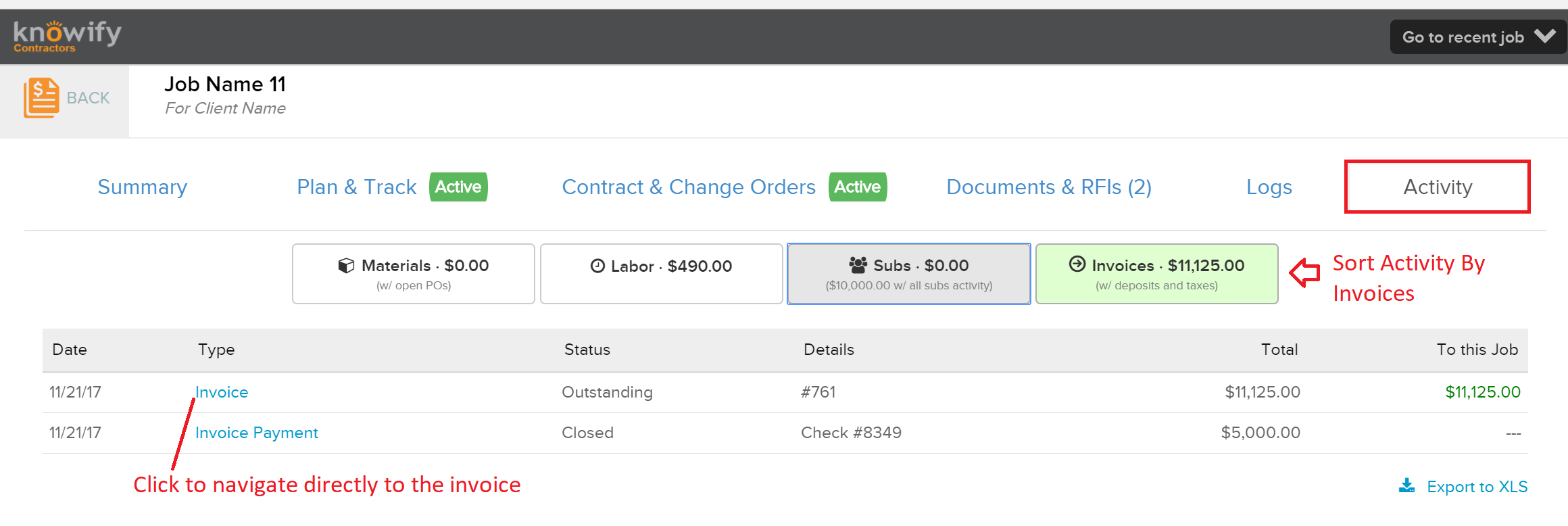 Activity_Invoices How To Delete an Invoice in Knowify