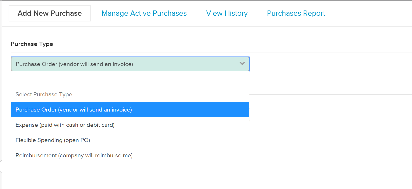 Purchase-Types Managing Purchase Orders in Knowify