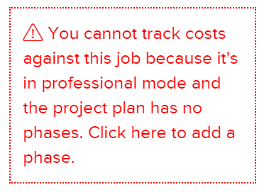 canttrackcosts-1 Why Can't I Track Costs for My Active Job?