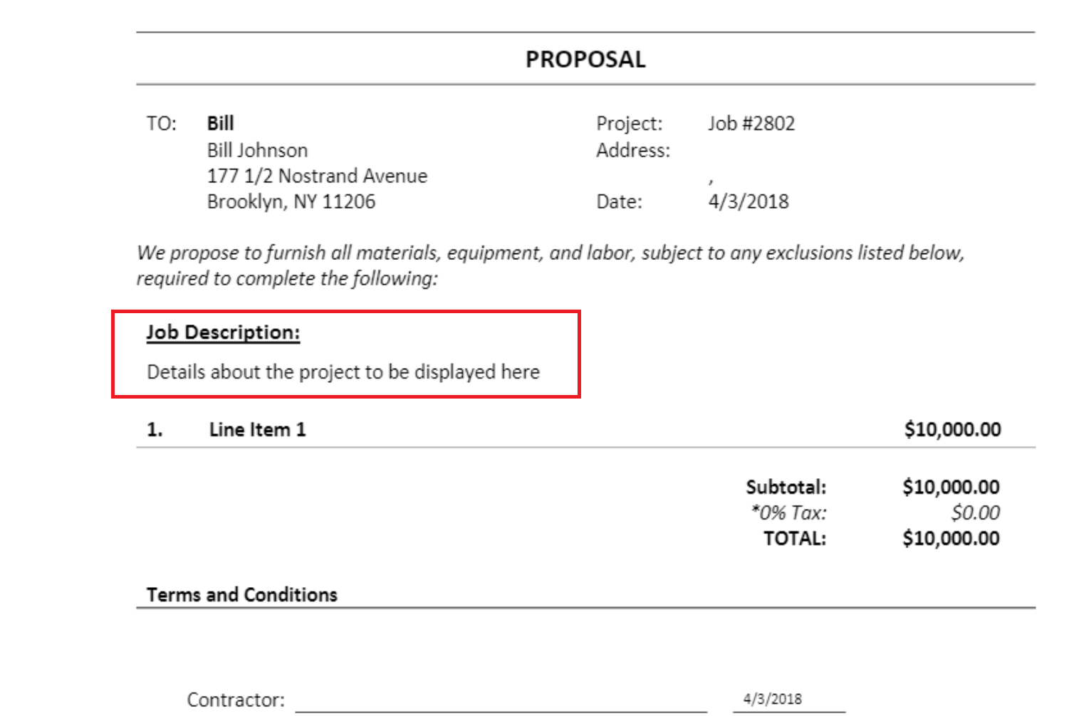 projectdescription2 Additional Contract Options