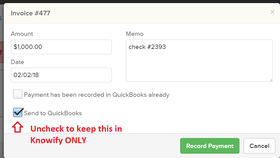 recordpayment1.2 How do I record invoice payments in Knowify