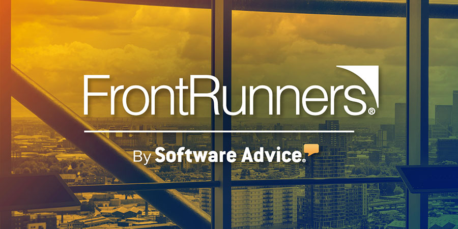 City view as visual to announce FrontRunners by Software Advice | Knowify