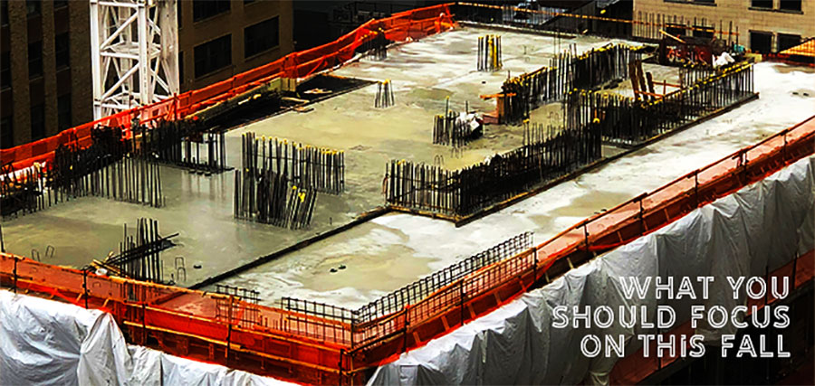 Picture of a job site in Manhattan | What you should focus on this fall | Knowify