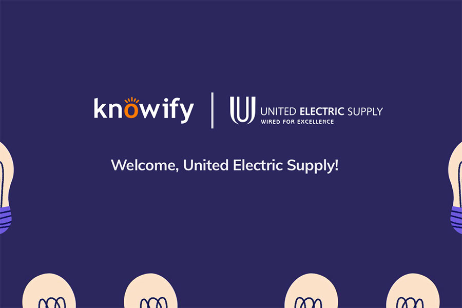 Visual to announce our partnership with United Electric Supply | Knowify